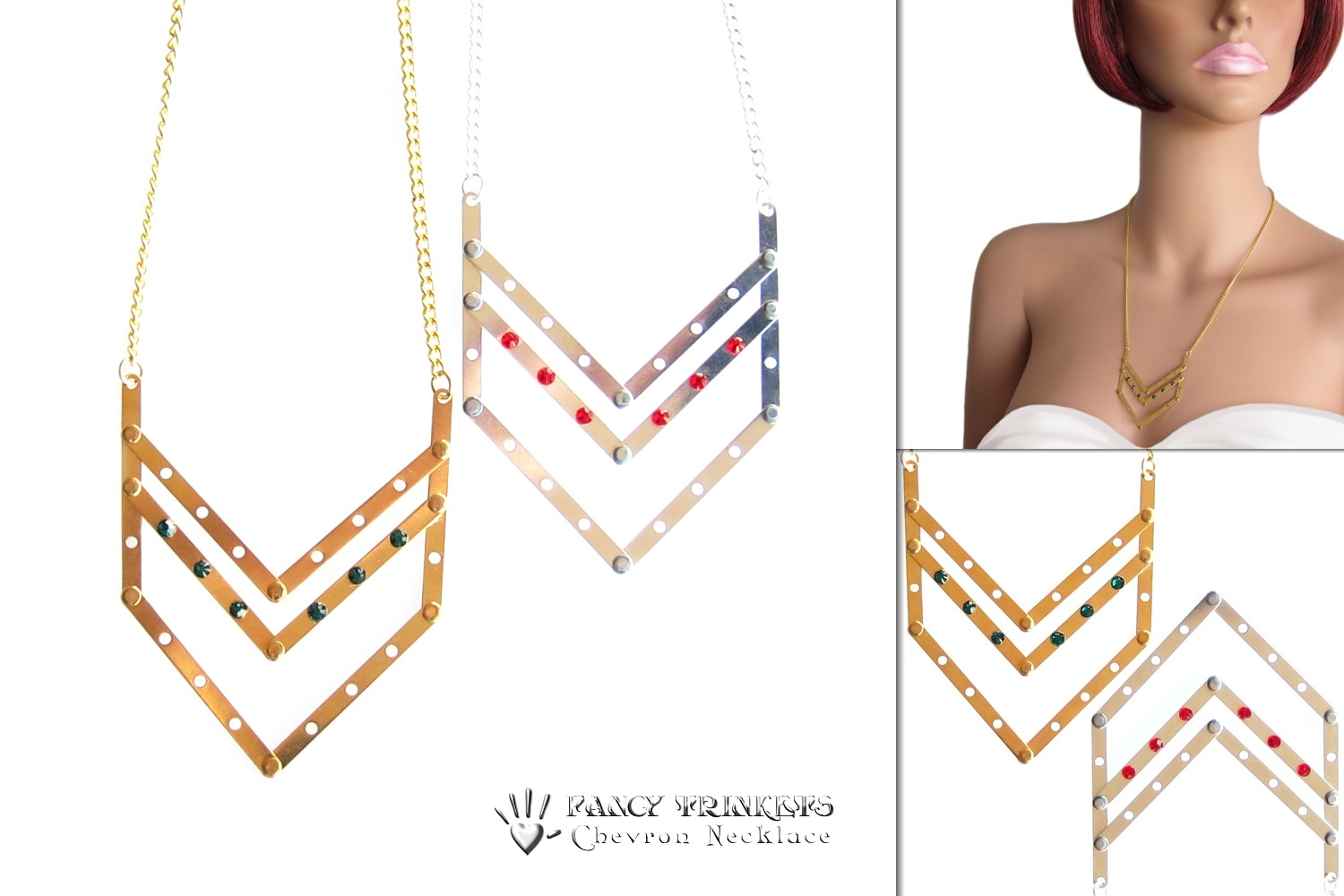 Chevron Necklace - compilation