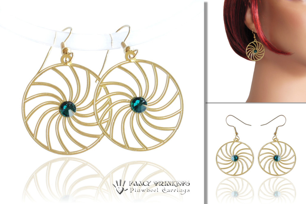 Pinwheel earrings - compilation image