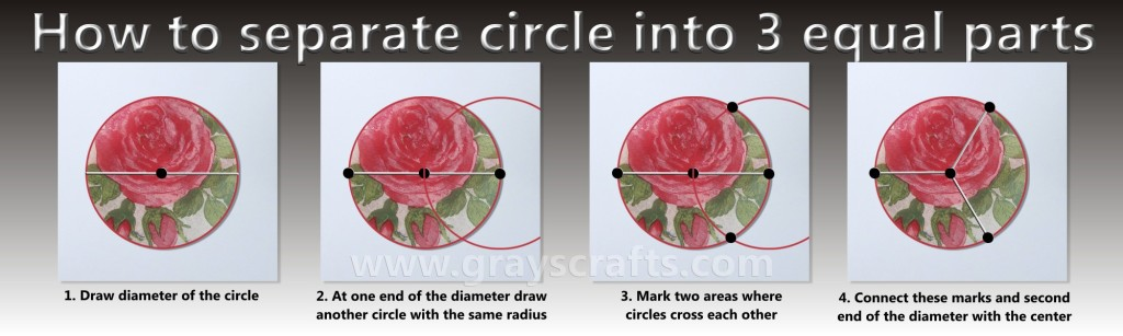 How to separate circle into 3 equal parts